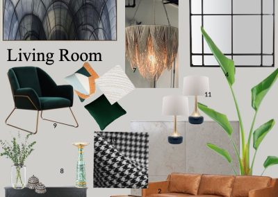 concept board living room